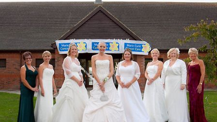 Claire Senior and guests at her wedding wishes ball in Alconbury