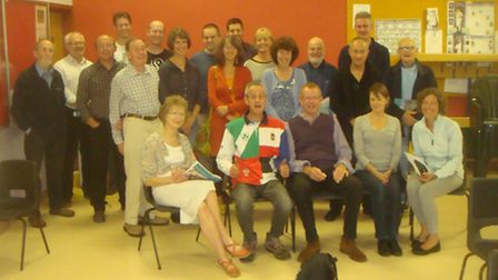 Members of the A10 Corridor Cycle campaign gather for their AGM