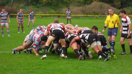 Action from Harpenden's loss against Chiswick.
