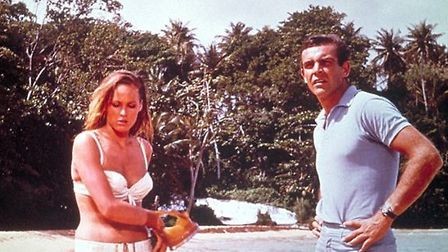 Famous beach scene from the film adaptation of Dr No