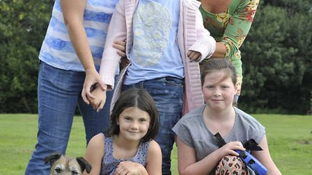 Offord Fun Day & Dog Show, (front l-r) Mr Benn, Daisy Moore, Olivia James with Bramble, (back l-r) K