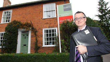 Manager of John Curtis Village & Country Homes Mark Lumley outside Whippletrees which is up for sale