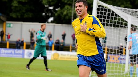John Frendo scored potentially the goal of the season against Billericay. Picture by Leigh Page