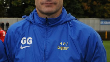 St Albans City's management team of James Gray, Mark Boyce, Harry Wheeler and Graham Golds. Picture: