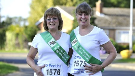Acorn Cancer Support Group Walkers (l-r) Patricia Cockwill and Val Zarno, at Hilton, who will do th