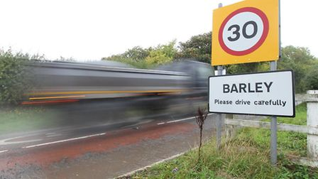 Campaigners have been told speed limits in Barley are ok