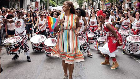 NEW YORK, NY - JUNE 24: Letitia James attends the 2018 NYC Pride March on June 24, 2018 in New York