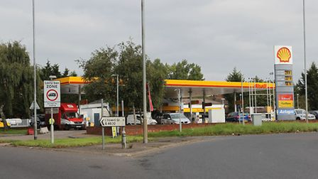 The Shell garage on Chiswell Green roundabout