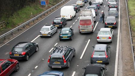An accident caused heavy traffic on the roads this morning