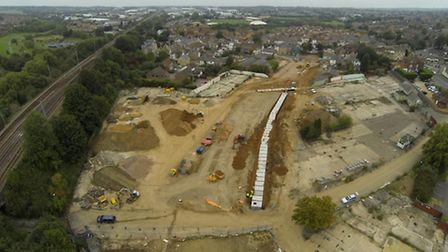 Work on the West Huntingdon link road continues