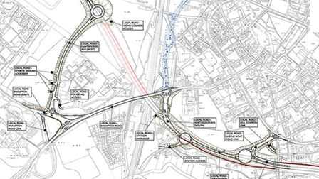 Life after the viaduct: The proposed route of the de-trunked A14 at Huntingdon