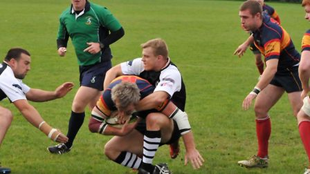 Cam O'Connor scores Tabard's first try.