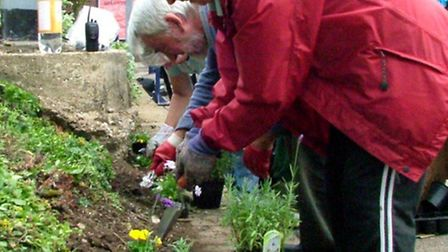 Volunteers get busy at Royston station