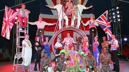 The performers from Gerry Cottle's WOW Circus which is on Harpenden common this week