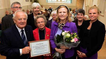 Terez and Caroline Rowley at the official reopening of the St Neots and District Welfare Voluntary A