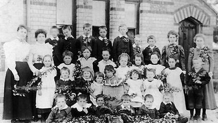 Thriplow pupils at the turn of the century