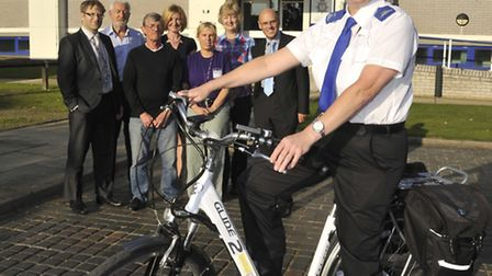 The charity Friends Of Muir Group, has funded an electric bike for PCSO Debbie Thorburn to use on he