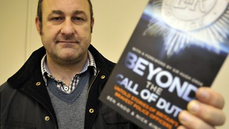 Brampton author Ben Ando with his first book.