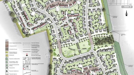 A layout plan of the proposed Oaklands College residential development
