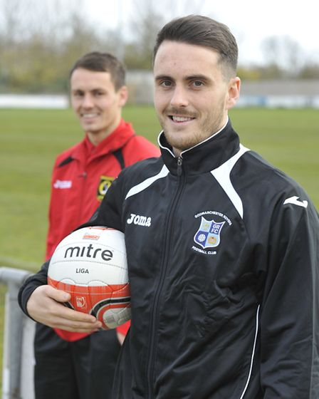 Chris Hyem is hoping to lift the Eastern Counties trophy with Godmanchester Rovers this season. Pict