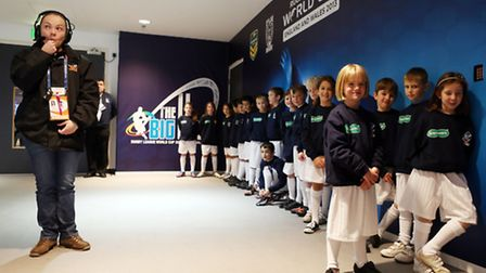 Mini Centurions at Wembley and with Anne Main