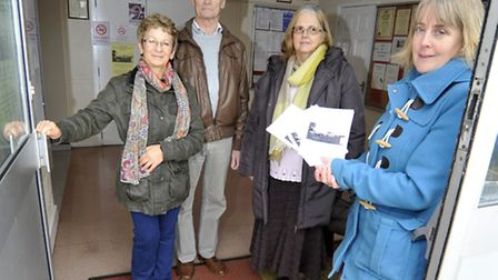 Little Paxton Village Hall, is facing closure due to lack of management committee, (l-r) Liz Timms,
