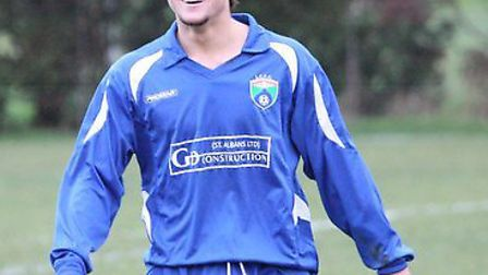 Jimmy Hartley made his debut for London Colney on Saturday. Picture: James Whittamore
