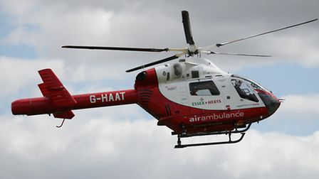 An air ambulance was called to Royston Health Centre