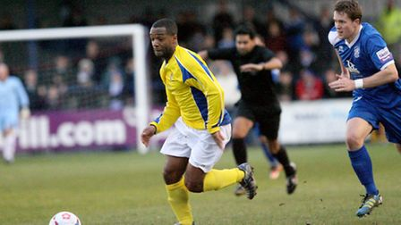 Mark Nwokeji breaks free. Picture: Leigh Page