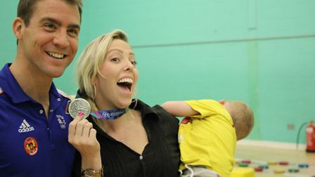 Olympic silver medallist Leon Taylor visited Tumble Tots in St Albans