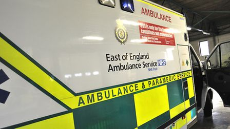 Ambulance crews were called to an incident where a man was hit and trapped by a metal gate