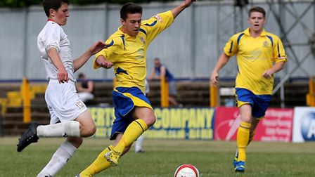 Matt Taylor has joined Potters Bar on loan and scored the winning goal for the Scholars in a friendl