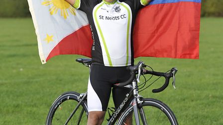 Jonathan Pang of St Neots Cycling Club, is holding a charity day to fundraise for the typhoon for ph