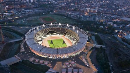 Olympic Stadium at night. Picture courtesy of London 2012