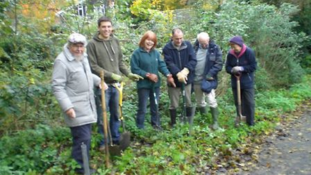 Royston in Bloom volunteers get busy planting at Stile Plantation