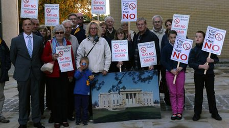 Members of the Stop Bicton Wind Farm campaign group.
