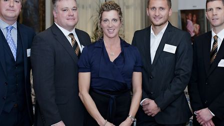 Discussing their school sports plans with Olympic champion Sally Gunnell were Watford Football Club