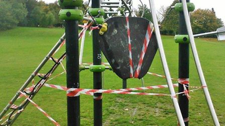 Royston exercise equipment at the Newmarket Road park