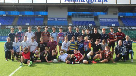 Old Albanian's U17 squad trained at Allianz Park, the home of Saracens.