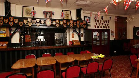 Inside Mitchell Hall, home to the St Albans branch of the British Legion