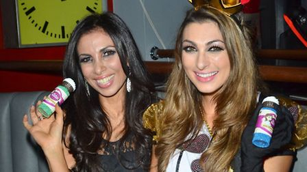 Luisa Zissman with impressionist Francine Lewis - photo by Joe Alvarez