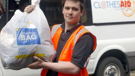 Valuables were mistakenly left in a Clothes Aid charity sack