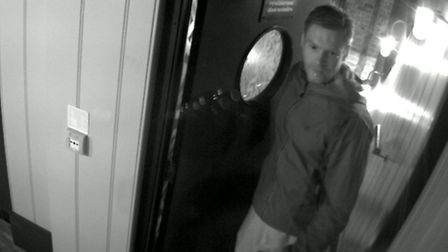 Police want to speak to this man in connection with a burglary at Jamie's Italian