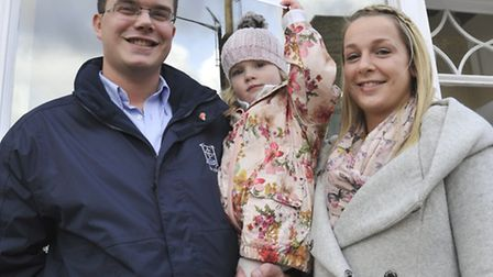 Hunts Post Baby Of The Year Winner Maisie Splevings, with parents Tom Splevings and Kerrie Cole