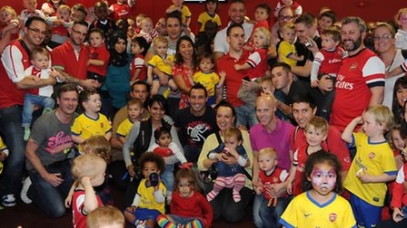 Arsenals youngest Junior Gunners, including toddlers from London Colney and St Albans, attended a Gu