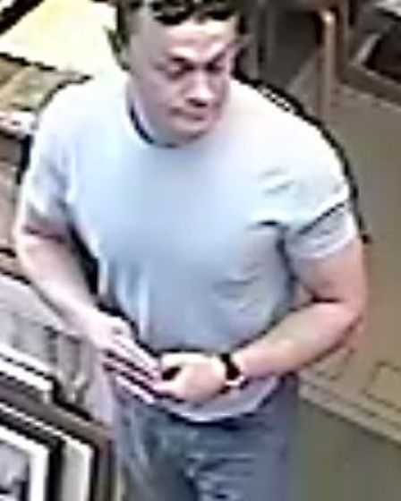 Police want to trace this man in connection with thefts in St Ives