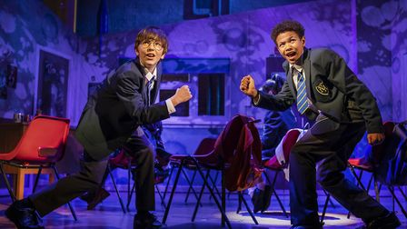 Top of the class: Michael hawkins as Adrian and Cuba Kamanu as Nigel in Adrian Mole the Musical, Age