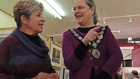 - A photograph taken at the opening of last year's Exhibition which was opened by last year's Mayor,