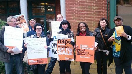 St Albans Probation staff walkout
