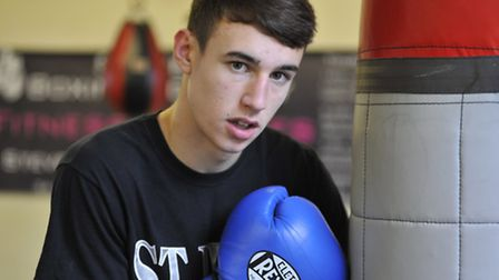 Boxer Bradley Smith at St Ives Boxing Academy. Picture: Helen Drake.